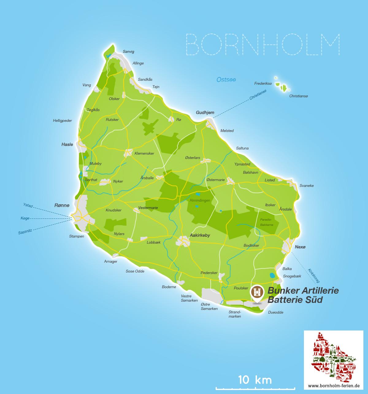 Bunker Insel Bornholm Danemark Dueodde Artilleriestellung Der