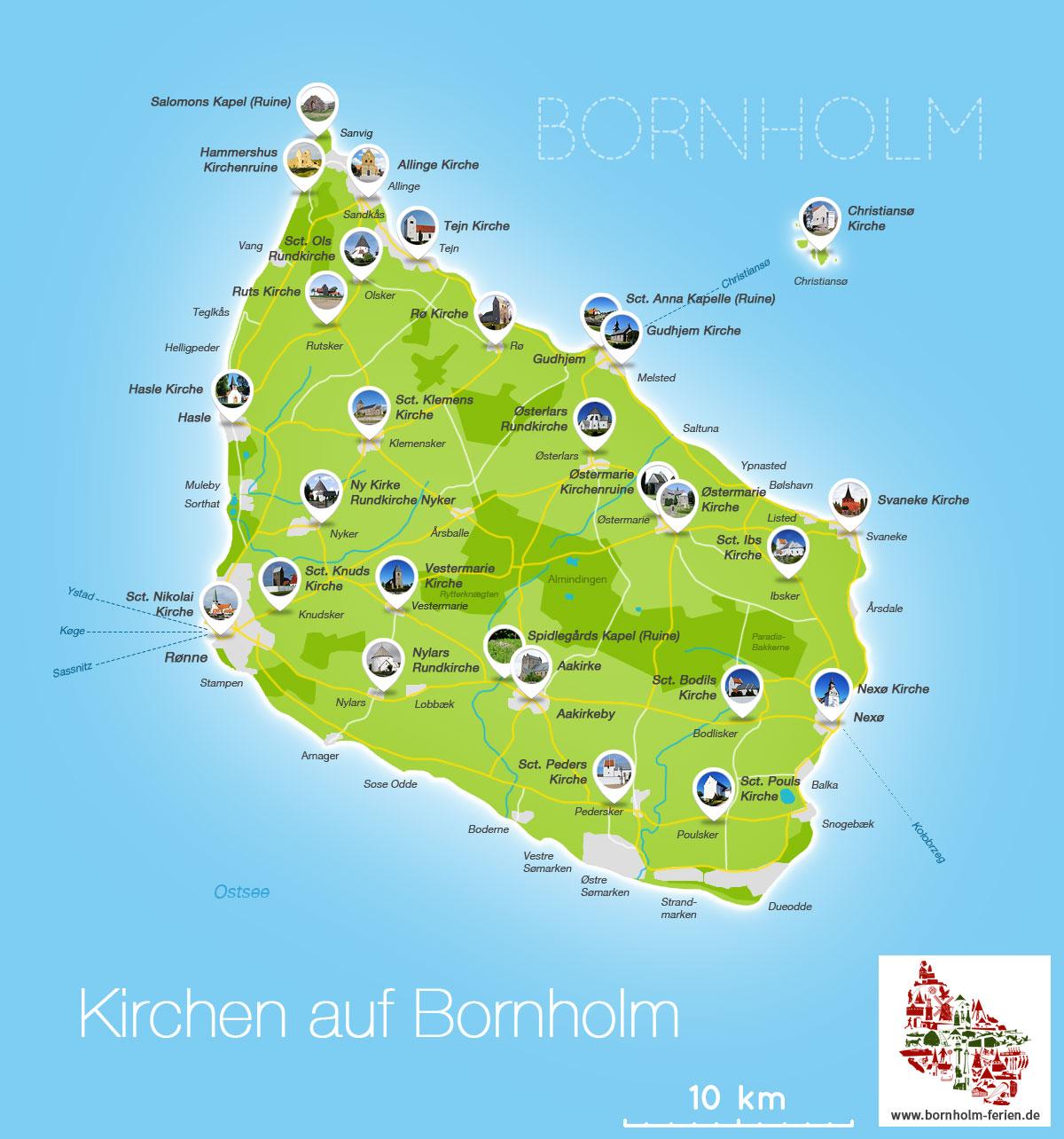 Karten Insel Bornholm Landkarten Von Bornholm Bornholm Ferien De