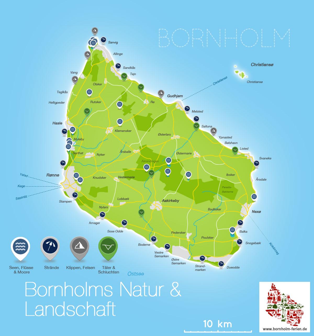 Landschaft Natur Insel Bornholm Danemark Bornholm Ferien De
